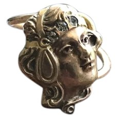 Gold Ring Woman's Face with Paste Headband