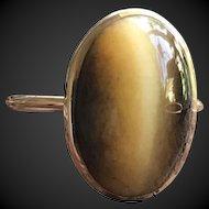 Honey Cat's Eye Opal Solid 10KT Gold Ring