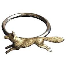 14KT Running Fox Ring