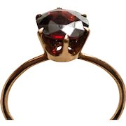 Dark Red Garnet Size 5 1/2  Midi or Pinkie Ring