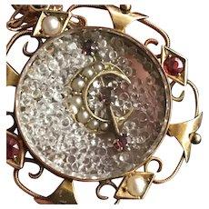 Antique Mourning Locket 9CT Rose Gold Shaker Locket