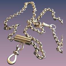 9KT Solid Gold Slide Locket  Necklace w/ Clasp Fob
