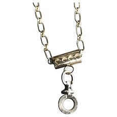9CT Gold Slide w/ Clasp as a Locket Chain Necklace