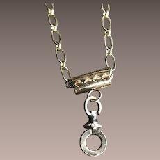 Antique Slide w/ Georgian Clasp as a Locket Chain Necklace