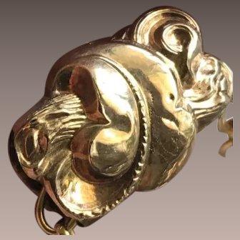 9KT Gold Antique Victorian Slide as a Necklace