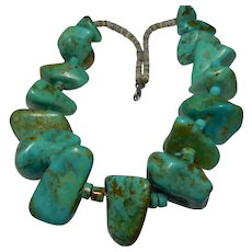 Huge Natural Genuine Earth Mined Turquoise Necklace