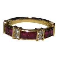 18k Designer Diamond Ruby Numbered Ring Quality