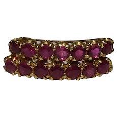10k yellow gold Ruby J Hoop Post Pierced Earrings