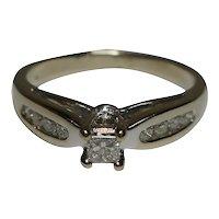 Diamond Ring 10k size 6