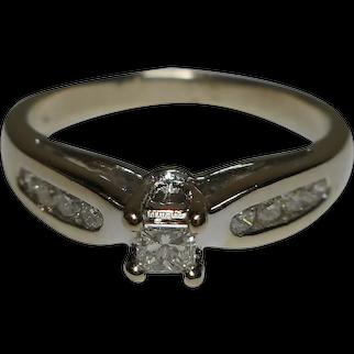 Ring Diamond 10k White Gold