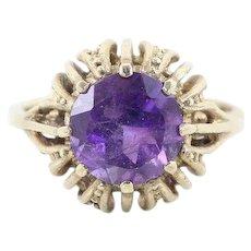 Purple Amethyst Ring 9k Yellow Gold Size 6