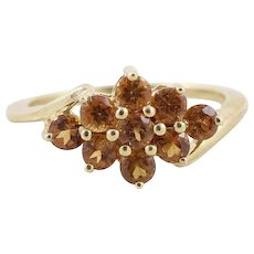 Madeira Citrine Ring 14k Yellow Gold Size 6 1/2