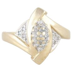 Diamond Cluster Ring 10k Yellow Gold Size 7 1/4