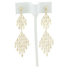 14k Yellow Gold Chandelier Earrings Dangle Drop Earrings