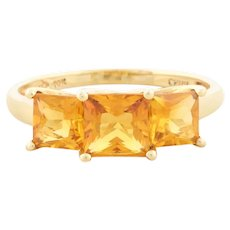 10k Yellow Gold Natural Citrine Ring Size 8 1/4