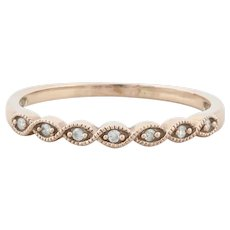 10k Rose Gold Diamond Weaved Migraine Design Band Ring Size 9 1/4