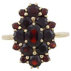 14k Yellow Gold Natural Bohemian Garnet Ring Size 9