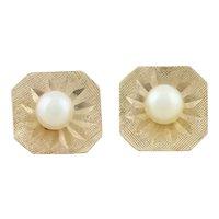 14k Yellow Gold Freshwater Petite Pearl Earrings Stud Post Earrings