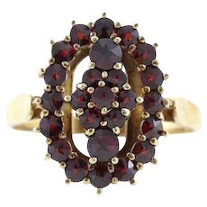 Bohemian Garnet Ring 14k Yellow Gold Size 8