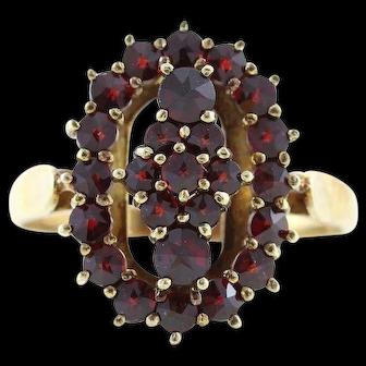 Bohemian Garnet Ring 14k Yellow Gold Size 8