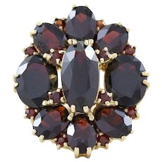 8 Carat Bohemian Garnet Ring 10k Yellow Gold Size 5 1/4