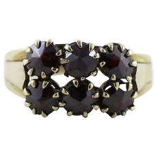 Antique Bohemian Garnet Ring 8k Yellow Gold Size 7