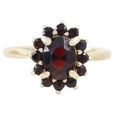 Bohemian Garnet Ring 10k Yellow Gold Size 6 1/2