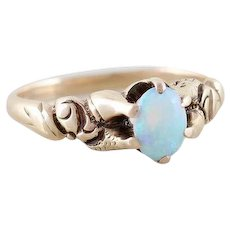 Antique Opal Ring 10k Yellow Gold Size 5 3/4