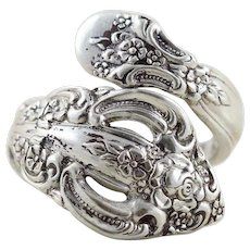 Vintage Sterling Silver Spoon Ring Size 7 Oneida Sterling