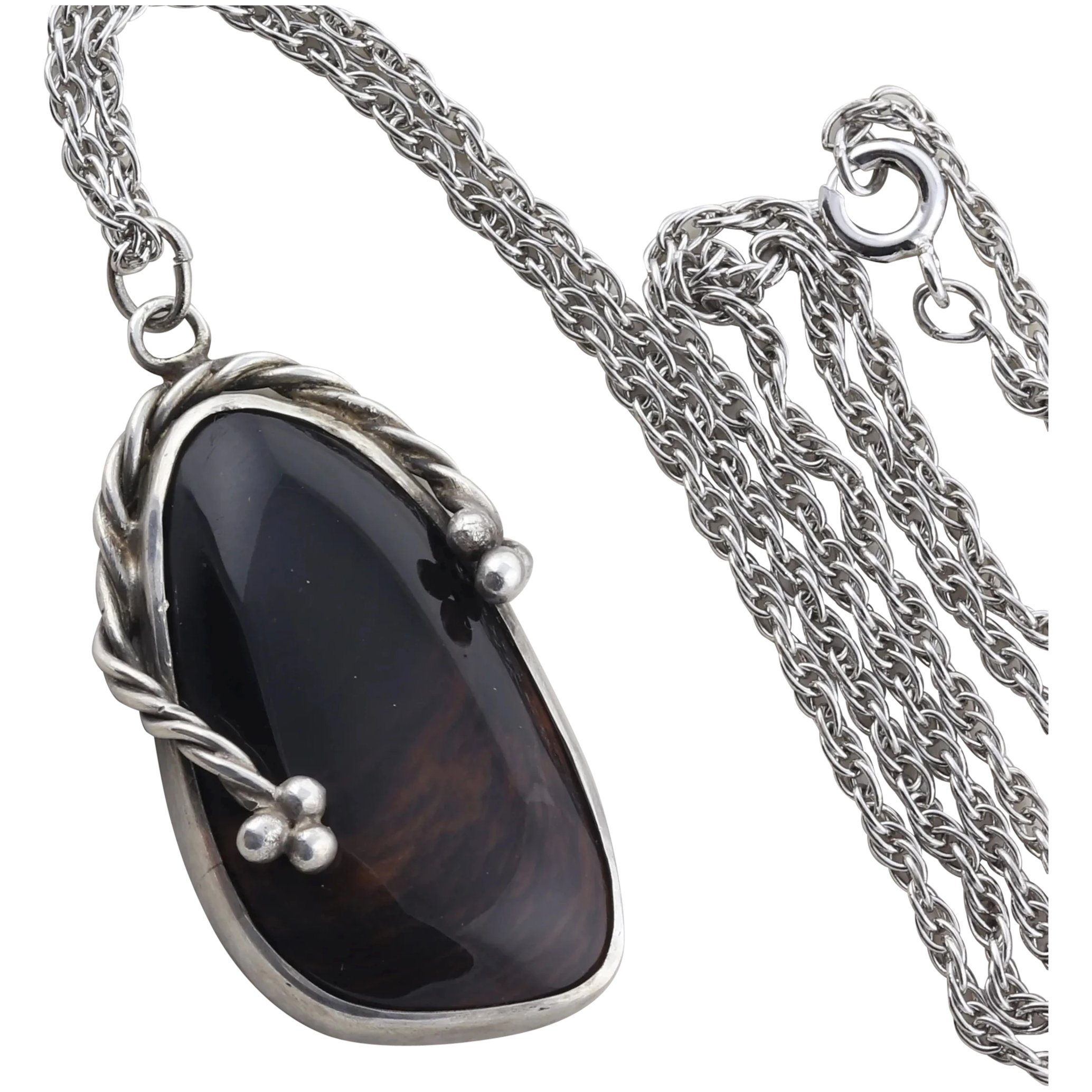 Choice with Chain or Without Chain Mahogany Obsidian Pendant