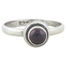Sterling Silver Garnet Ring Size 6 1/4