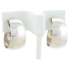 Sterling Silver Hoop Earrings 3/4 Inch