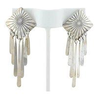 Sterling Silver Southwestern Earrings Dangle Drop Earrings