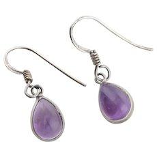 Sterling Silver Purple Amethyst Earrings Dangle Drop Earrings