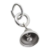 Sterling Silver Bell Charm for Bracelet