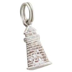 Sterling Silver Light House Charm for Bracelet