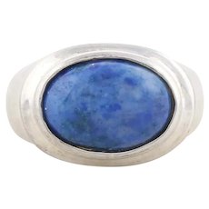 Sterling Silver Sodalite Ring Size 8