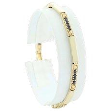 Gold over Sterling Silver Natural Blue Sapphire Bracelet 7 1/4