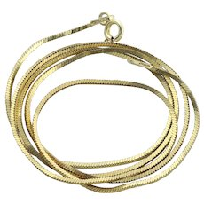 Gold over Sterling Silver Box Chain Necklace 20 inch chain