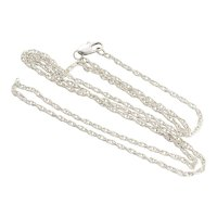 Sterling Silver Long Chain Necklace 24 inch chain 2 mm wide