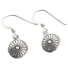 Sterling Silver Flower Earrings Dangle Drop Earrings