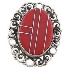 Sterling Silver Red Jasper Ring Size 7