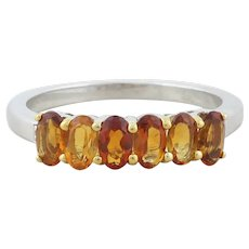 Sterling Silver Madeira Citrine Ring Size 8
