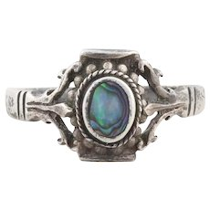 Sterling Silver Abalone Shell Ring size 6 3/4