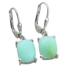 Sterling Silver Jade Earrings Dangle Drop Earrings