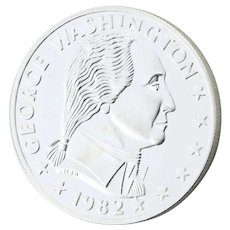 1oz Ounce Silver Coin George Washington Round Date 1982 999 Pure Silver Bullion