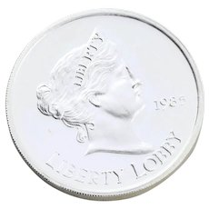 1oz Silver Coin Round Liberty Lobby One once Round Bullion 999 Silver