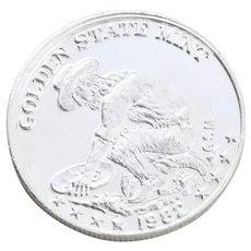 Golden State Mint Miner Coin Silver Round 1oz Round Bullion
