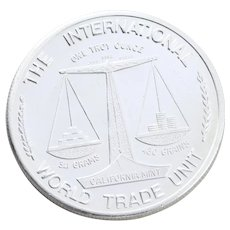 Golden State Mint Miner Coin The International Unit Scales Design Silver Round 1oz Round Bullion