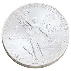 One Troy Ounce Mexico Silver Round Coin Plata Pura Silver Coin Bullion 1 oz